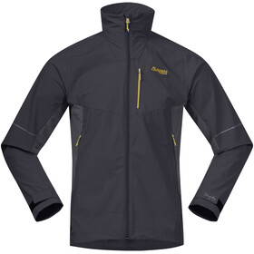 Bergans Slingsby LT Giacca Softshell Uomo, solid charcoal/waxed yellow